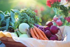 świeże warzywa do obierania